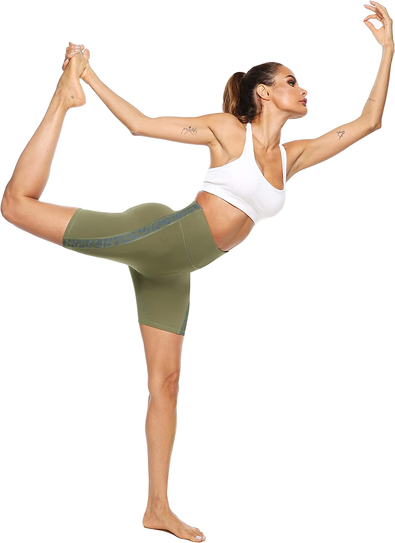 High Waist Yoga Sport Shorts Leggings f/ür Sommer JOYSPELS Kurze Sporthose Damen Leggins Kurze Radlerhose Yogahose f/ür Sport Gym Bike Alltag