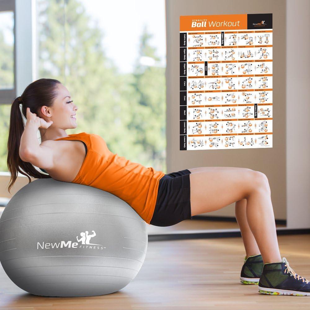 Pelota para ejercicios de entrenamiento Póster – Total – Swiss, Yoga, equilibrio y estabilidad bola gimnasio en casa – Póster de tu entrenador ...