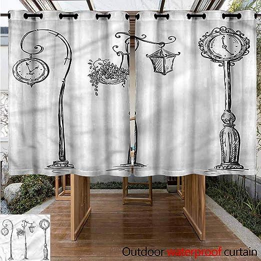 Sunnyhome Cortina para Puerta corredera, diseño de Farol: Amazon ...