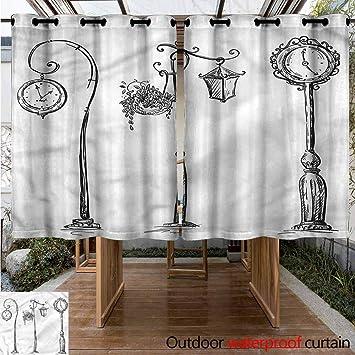 Sunnyhome Cortina para Puerta corredera, diseño de Farol: Amazon.es: Jardín
