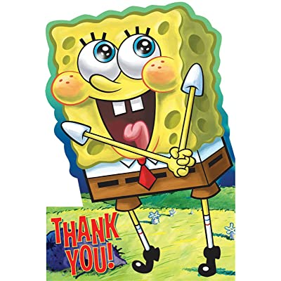 Designware Spongebob Thank You Notes w/ Envelopes (8ct): Toys & Games