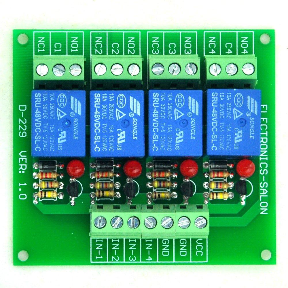 4 bascula SPDT 10Amp Modulo rel/è di potenza per Arduino PIC//8051 versione DC 5 V ELECTRONICS-SALON quattro