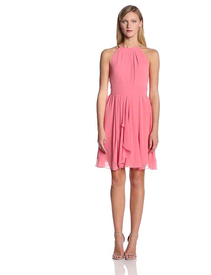 5670606e1dfe0 Amazon.com: Eliza J Women's Halter Chiffon Dress with Metal Hoop at Neck,  Mint 4: Clothing