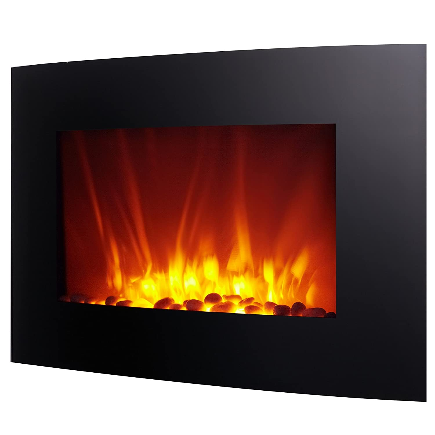 amazon com homegear 1500w wall mounted 2 in 1 electric fireplace