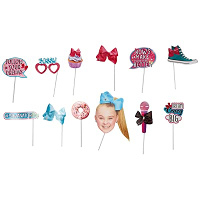 amscan 399428 JoJo Siwa Photo Prop Kit, Multi Color: Toys & Games
