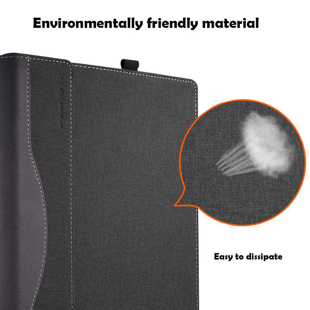 Laptop Cover for Lenovo Yoga C930/920/910/yoga 7 pro/Yoga 6 Pro/Yoga 5 Pro 13.9 Inch Folio Tablet Case Grey by Lakikey (Image #3)