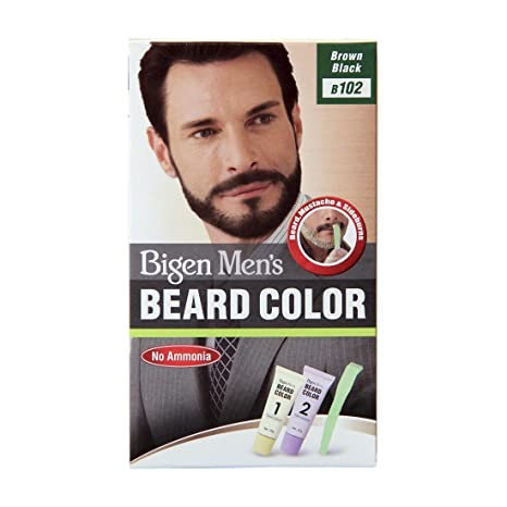 Buy Bigen Men\'s Beard Color, Brownish Black B102(20g+20g) Online at ...