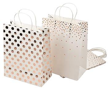 Amazon.com: Bolsas de regalo de papel – 12 unidades Bolsas ...
