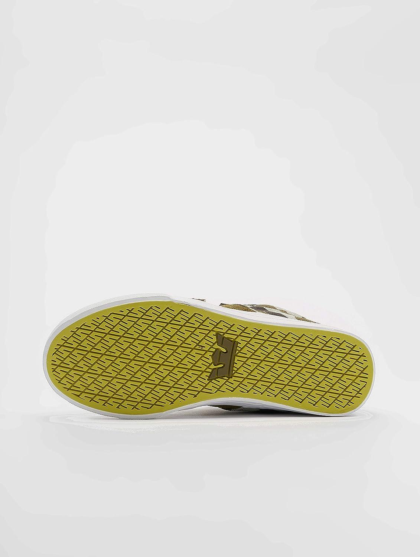Supra Boys Stacks II Vulc Hook and Loop Shoe Grey Camo-White 2 M US