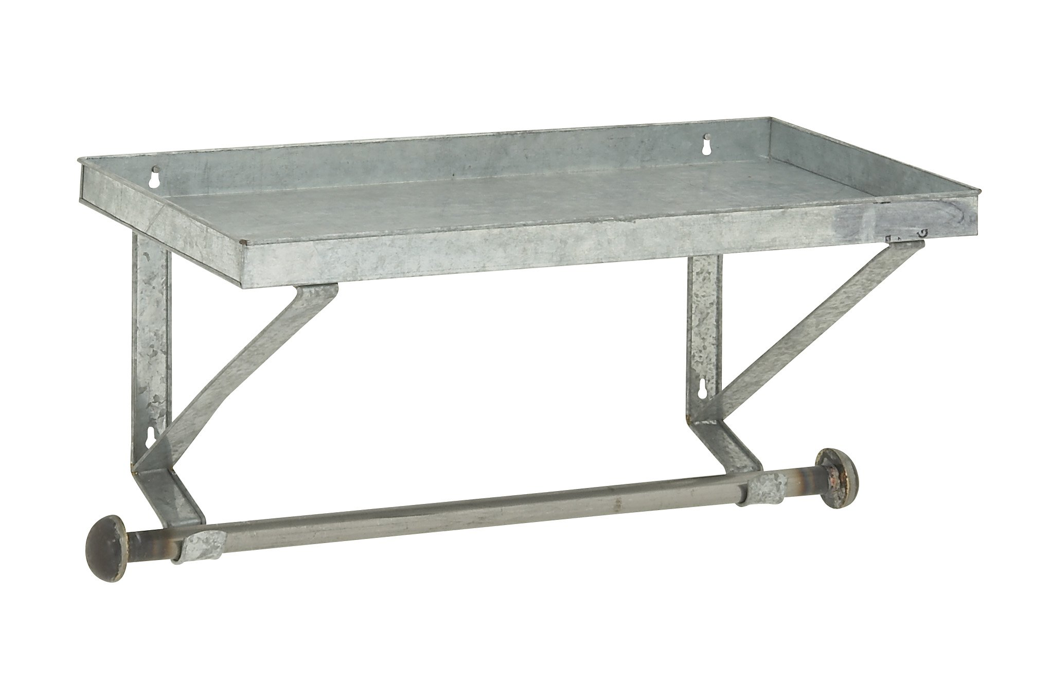 Deco 79 Well-Built Metal Wall Shelf With Rod