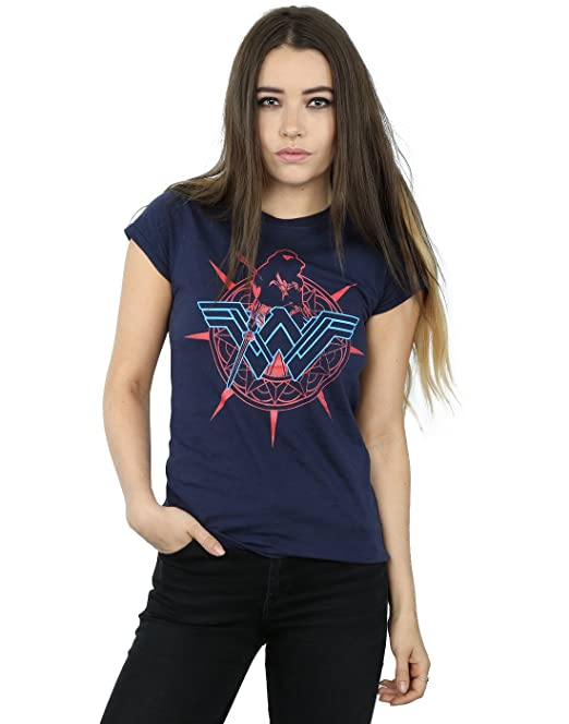 DC Comics mujer Wonder Woman Warrior Shield Camiseta: Amazon.es: Ropa y accesorios