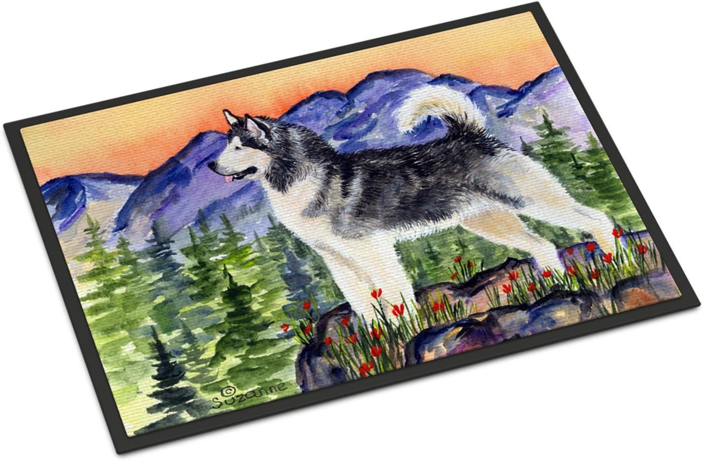 Caroline s Treasures SS8157JMAT Alaskan Malamute Indoor or Outdoor Mat 24×36 Doormat, 24H X 36W, Multicolor
