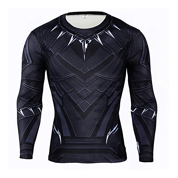 animal Colibrí Tristemente  Buy Black Panther T-Shirt for Men Panther Costume Men's Sportswear Training  Suit(XL) at Amazon.in