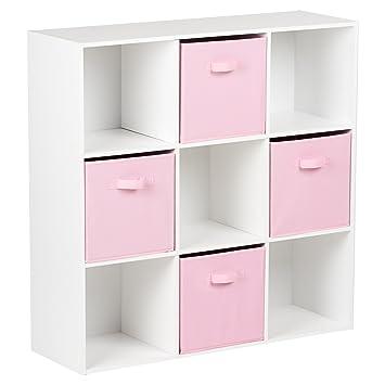 Laundry Storage Organisation Hartleys White 10 Cube Shelving