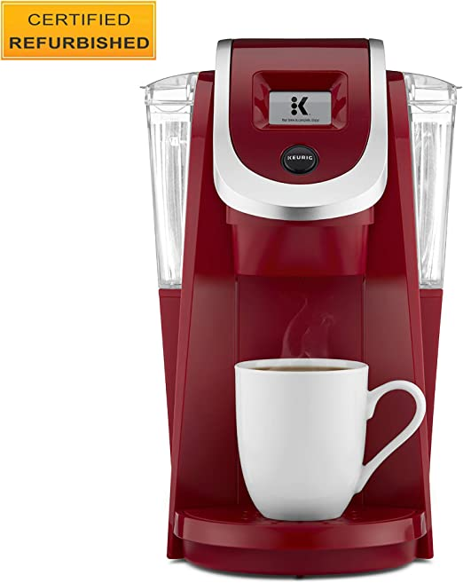 Keurig K200 Coffee Maker, Single Serve K-Cup Pod Coffee Brewer, With Strength Control, Imperial Red (Renewed)