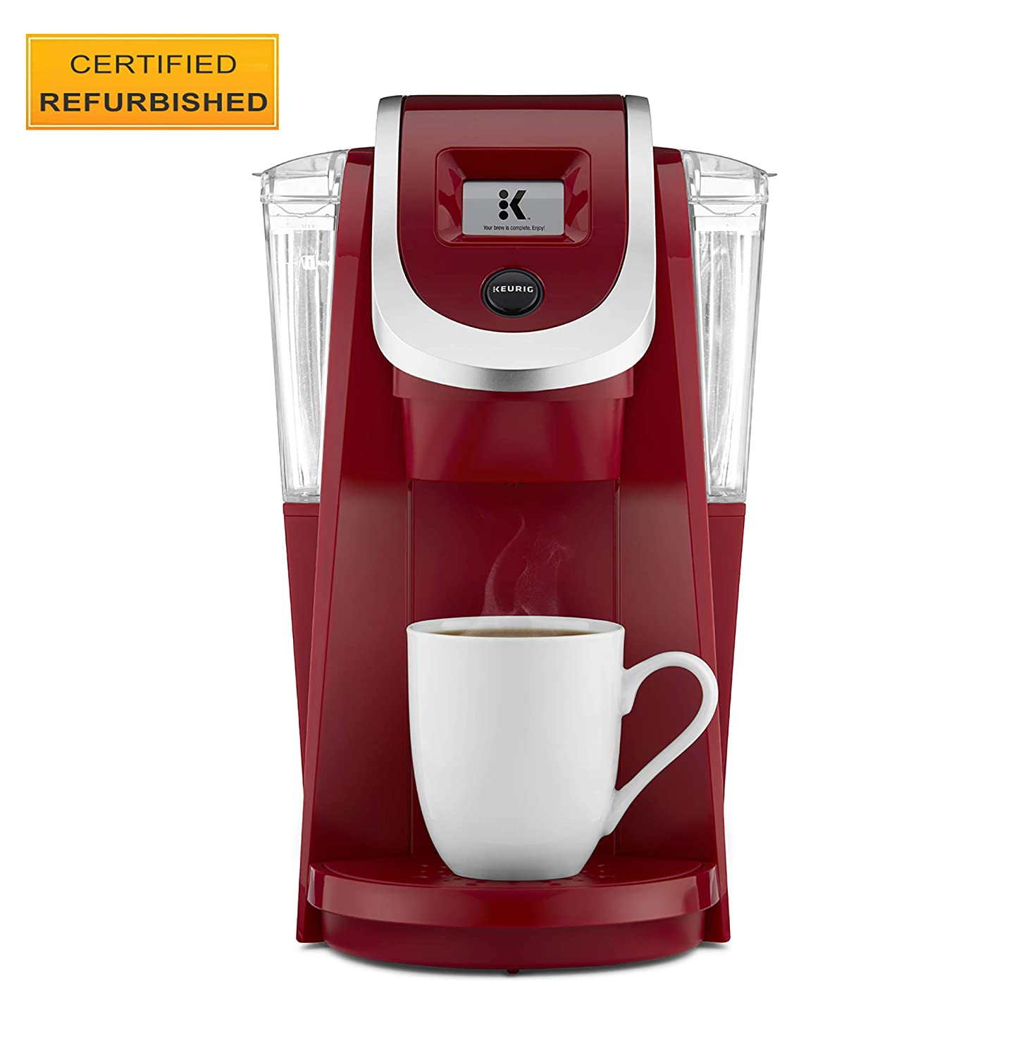 Keurig K200 Certified Refurbished Coffee Maker, Single Serve K-Cup Pod Coffee Brewer, With Strength Control, Imperial Red