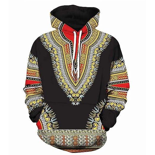 3D Traditional Hoodies Men Women African Dashiki Hoodie Sweatshirts Hip Hop Streetwear Hoody Tracksuit as picture