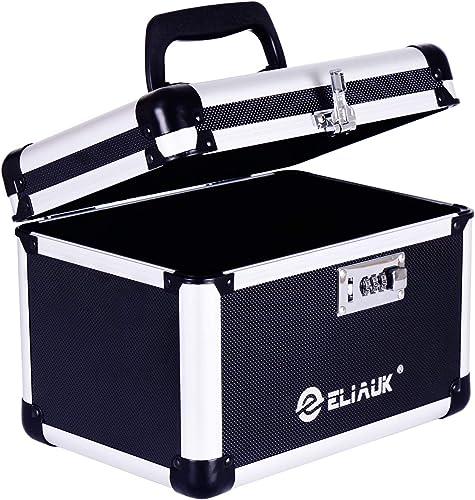 ELIAUK Combination Box Portable Safe Storage Box with Handle 10.6 L 7.2 W 7.7 H