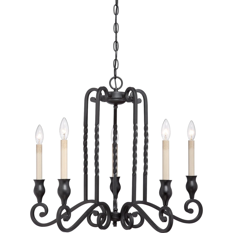 quoizel atm5005k atrium with mystic black finish chandelier and 5 lights black amazoncom