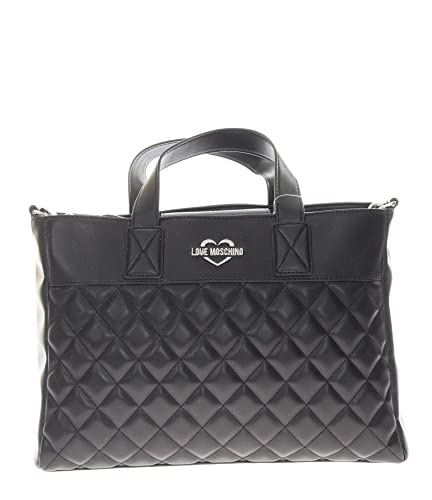 aa8ae037c90 Love Moschino Super Quilted Handbag Black  Amazon.co.uk  Shoes   Bags
