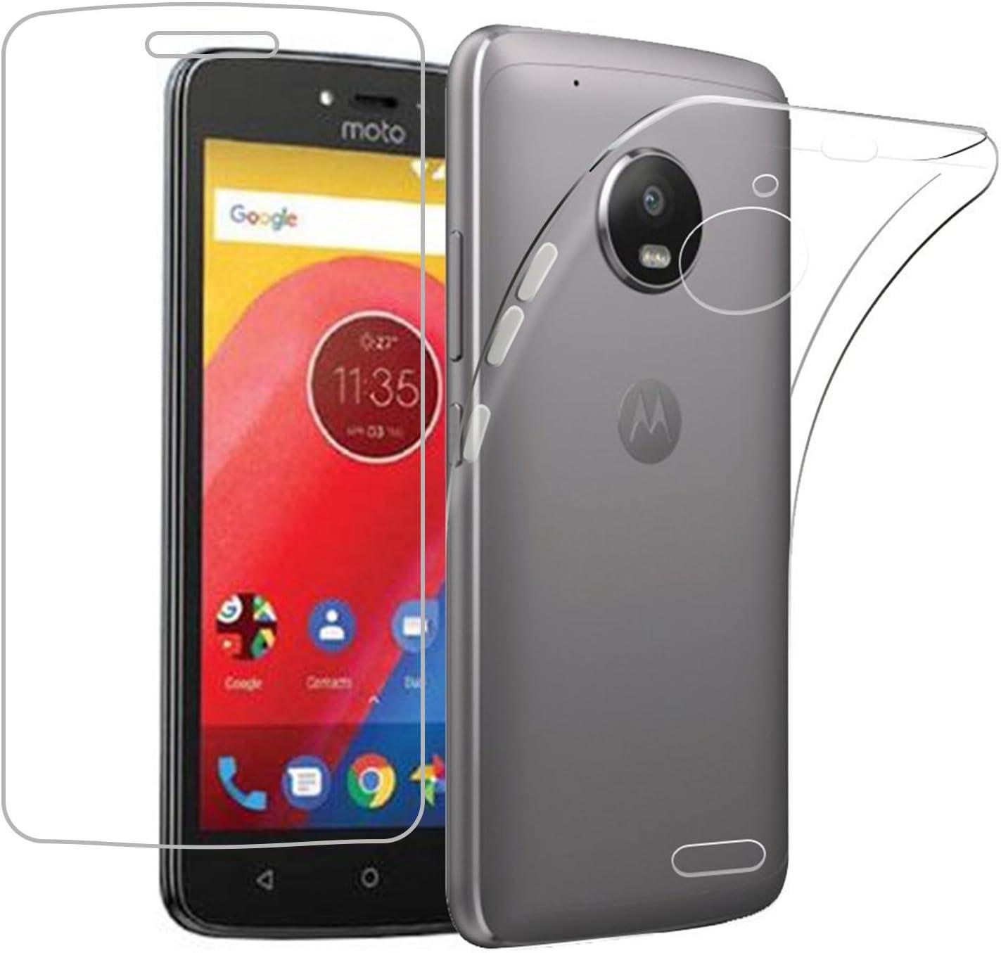 Funda Motorola Moto C Plus + Protector de Pantalla, EUGO TPU Funda ...
