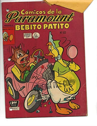 Amazon com: Comicos De La Paramount #52 1957 Spanish Baby
