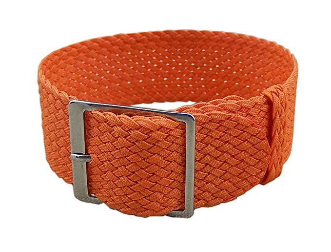 22mm naranja de lujo de alta calidad trenzado estilo de la NATO de nylon  suave de los hombres de nylon reloj correa de banda sustitución  Amazon.es   Relojes 54f9b5707fd4