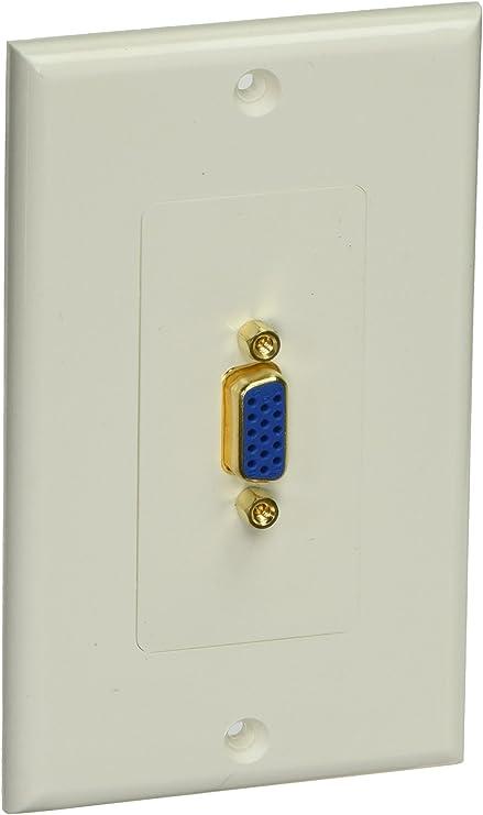 Monoprice 106725 Wall Plate for Keystone 1 Hole White
