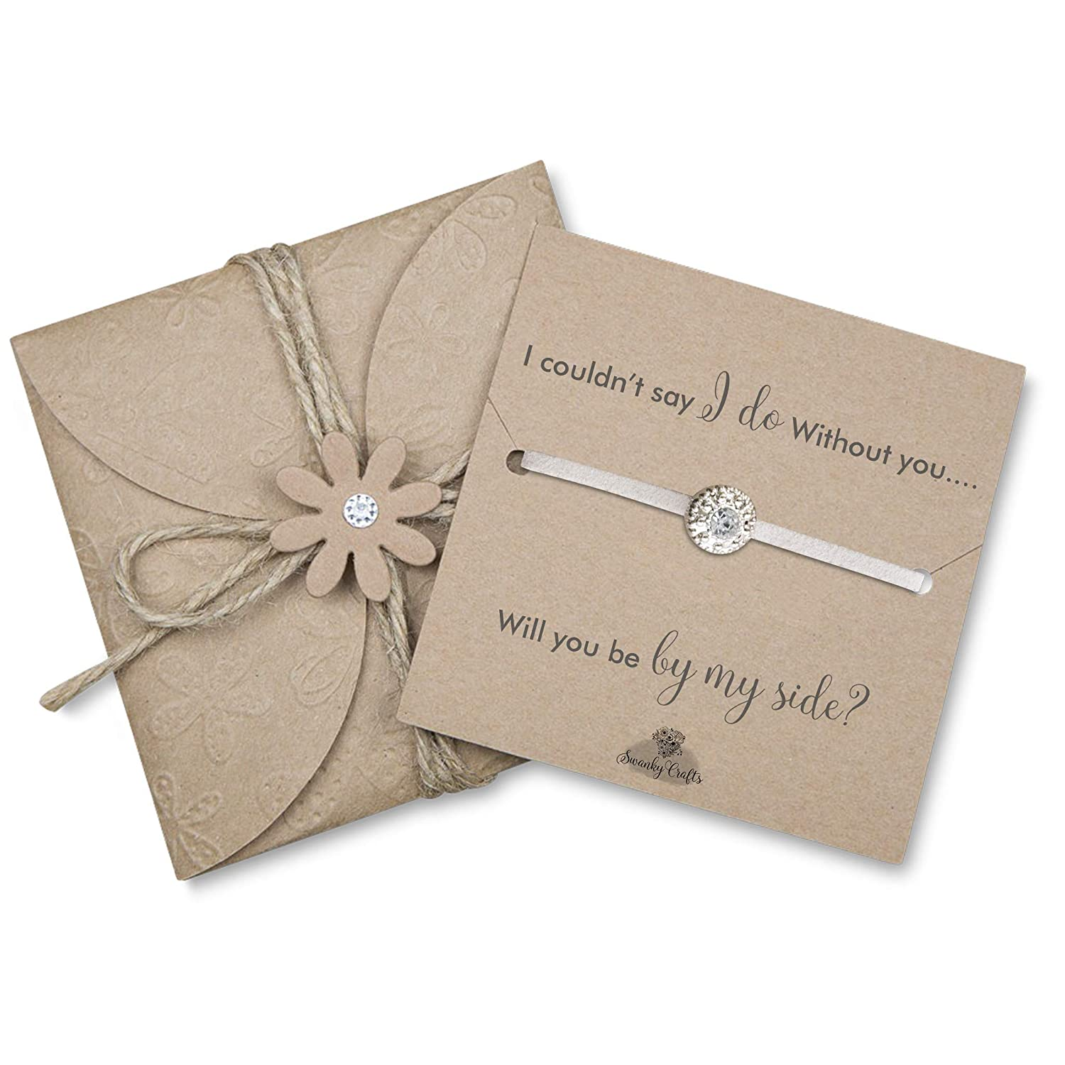 Amazon.com Asking bridesmaids gifts Will you be my bridesmaid bracelet junior bridesmaid gifts Ivory Handmade  sc 1 st  Amazon.com & Amazon.com: Asking bridesmaids gifts Will you be my bridesmaid ...