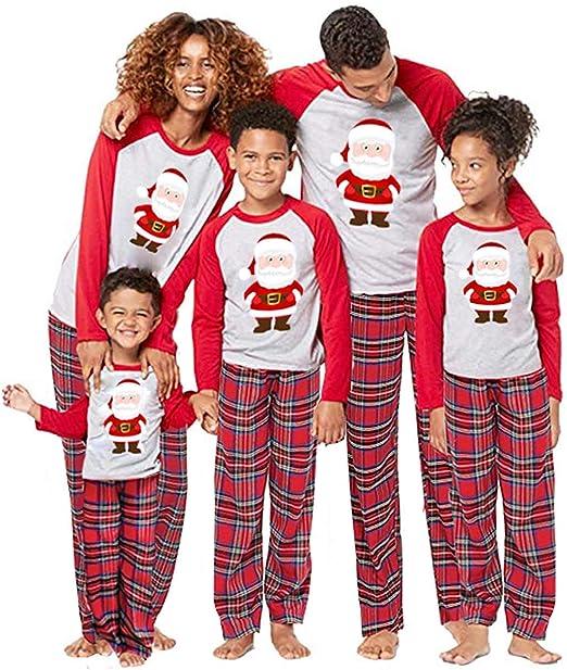 BOBORA Christmas Pajamas for Family Merry Christmas Classic Reindeer Matching Family Christmas Pajama Set Toddler Jammies
