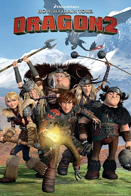 Amazon how to train your dragon 2 cast poster 24 x 36in how to train your dragon 2 cast poster 24 x 36in ccuart Image collections