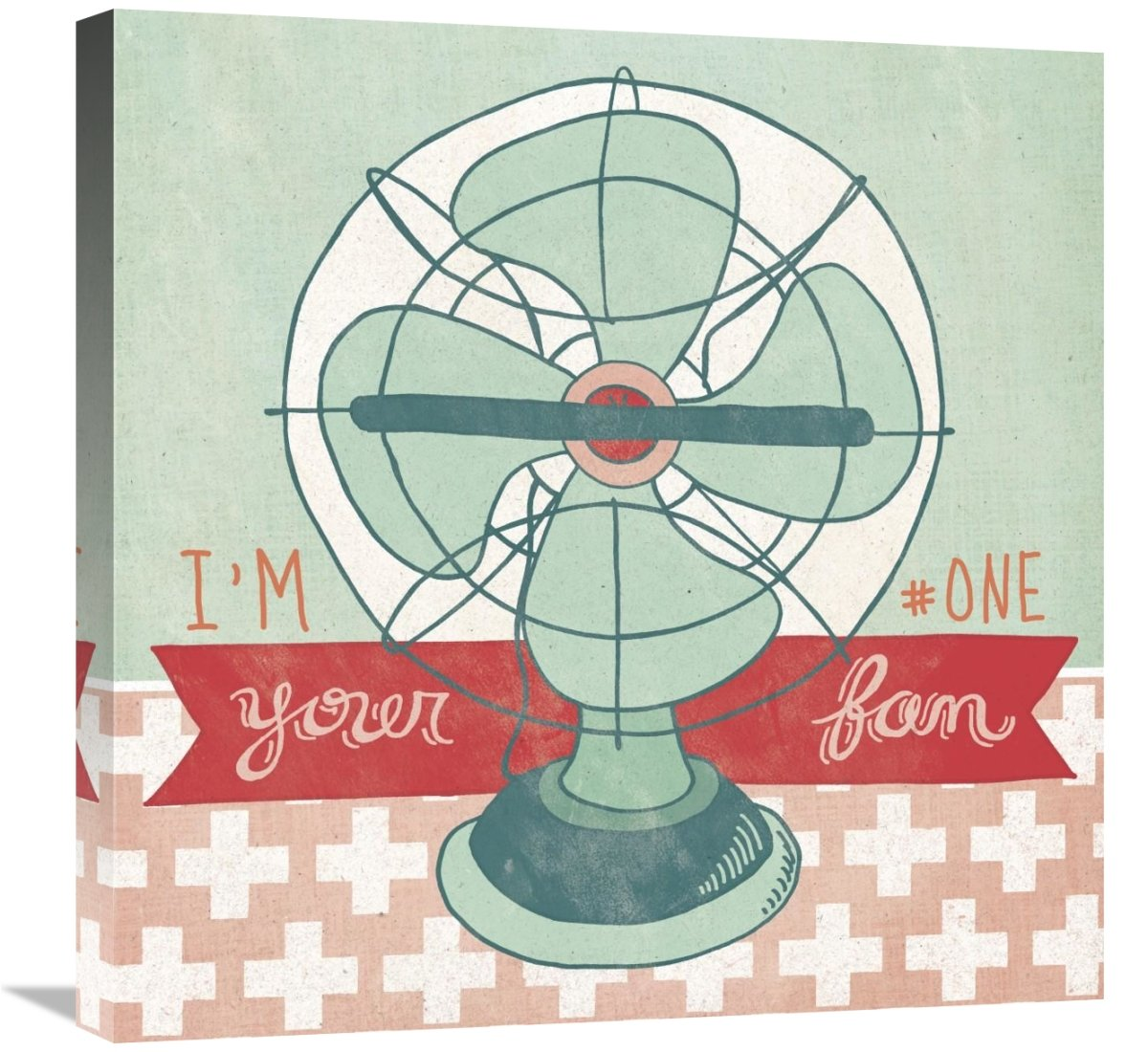 Global Gallery Mary Urban Retro Fan Giclee Stretched Canvas Artwork 24 x 24
