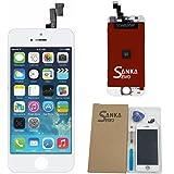 SANKA iPhone SE フロントパネル ガラス デジタイザ (タッチパネル) 及び 液晶LCD 一体型セット 交換用 部品 修理工具付き (ホワイト)