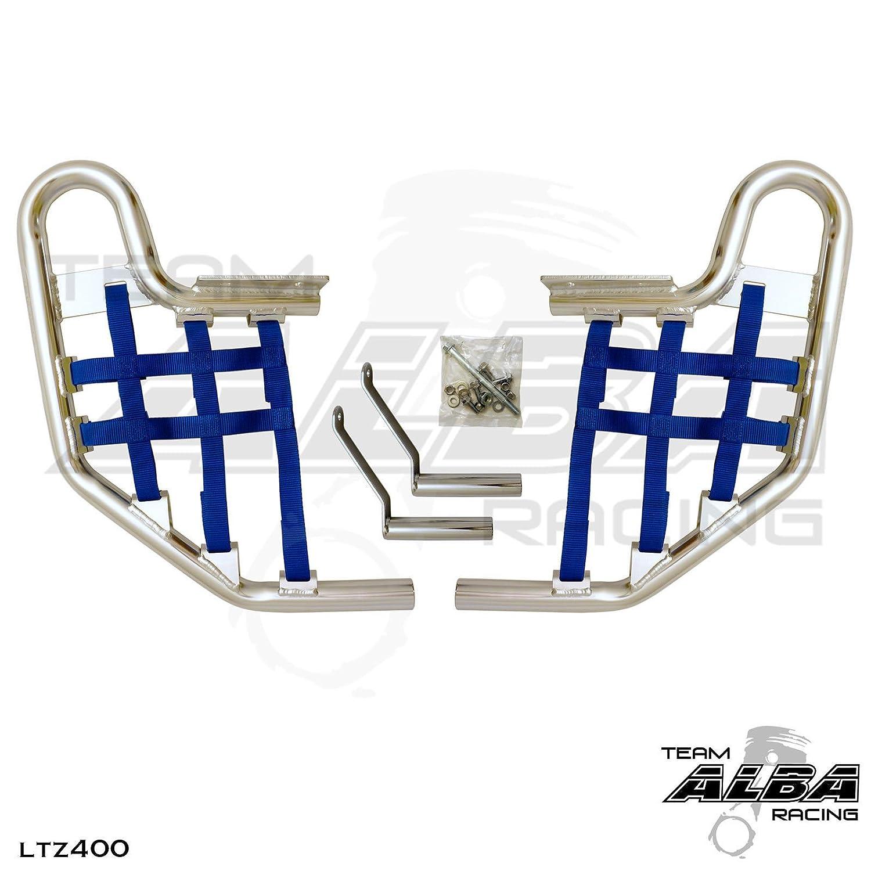 Propeg Nerf Bars Silver Bars w//Blue Net 2004-2008 Suzuki LTZ 400 QUADSPORT Z