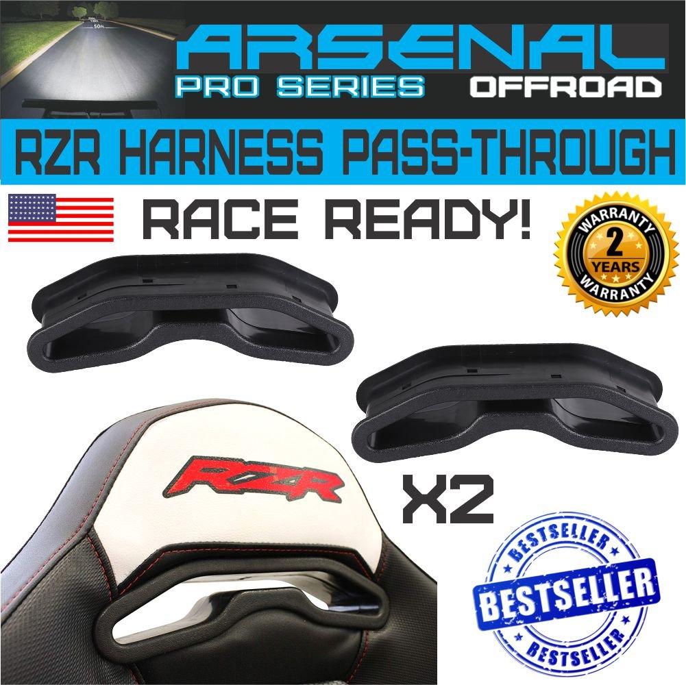 No.1 RZR XP1000 XP 1000 900S 900XC 900 Trail & XP1K 4 Seater & General Race Harness Pass-Through Bezel (1Pair)