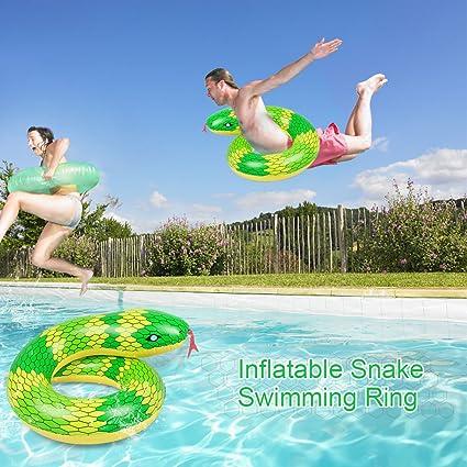 Amazon.com: goolsky Anillo de natación inflable serpiente ...
