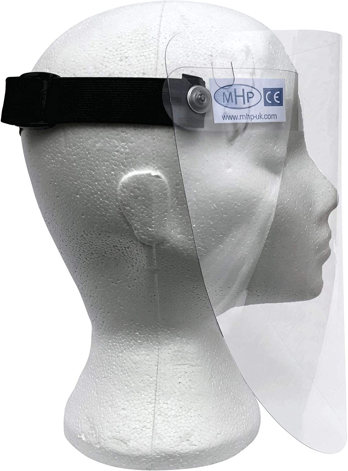 Easy Clean x 2 MHP Safety Face Visor Shield glass clear material Adjustable Elastic Headband