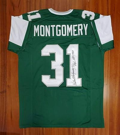 Wilbert Montgomery Autographed Signed Jersey Philadelphia Eagles ...