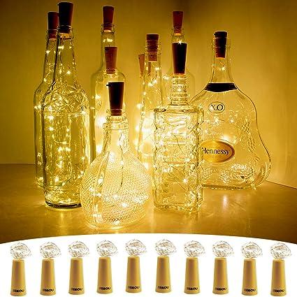Led Table Lamps 10pcs Wine Bottle Stopper Led String Light For Christmas Lights Waterproof Copper Fairy Strip Diy Cork Light For Wedding Party Big Clearance Sale Lights & Lighting