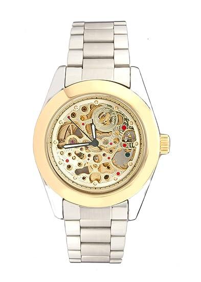 De pronto Imperial de caballero de acero inoxidable de dos tonos reloj de pulsera automático de