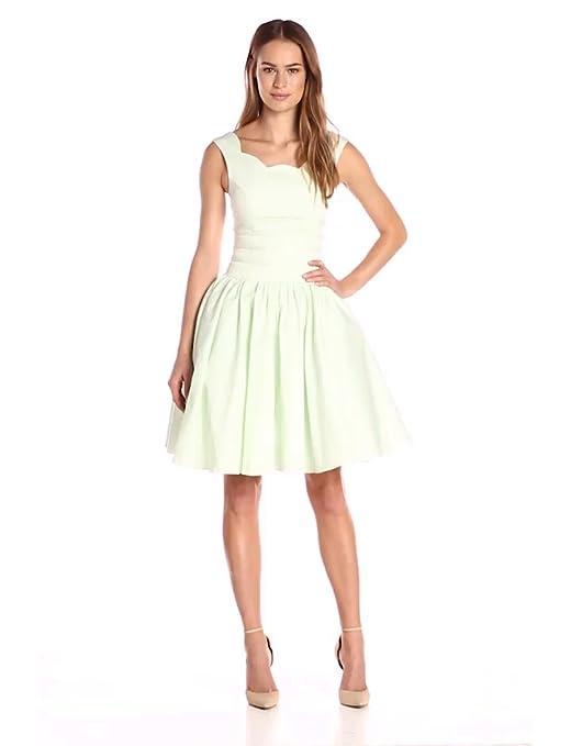 16cf3b99a01 Amazon.com  Unique Vintage Women s 1950s Roman Holiday Scallop Retro Swing  Dress