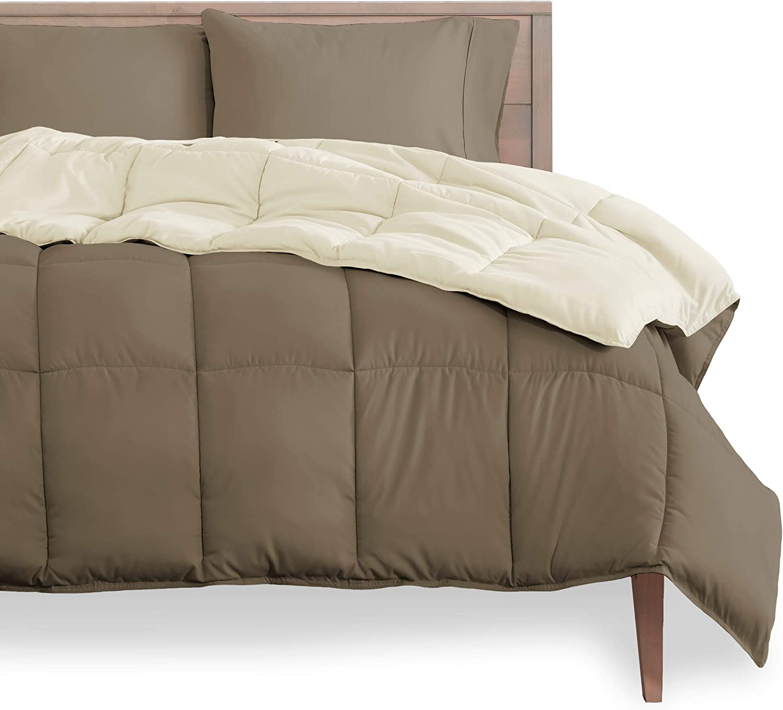 Bare Home Popularity Reversible Comforter - Goose Cash special price Do King California