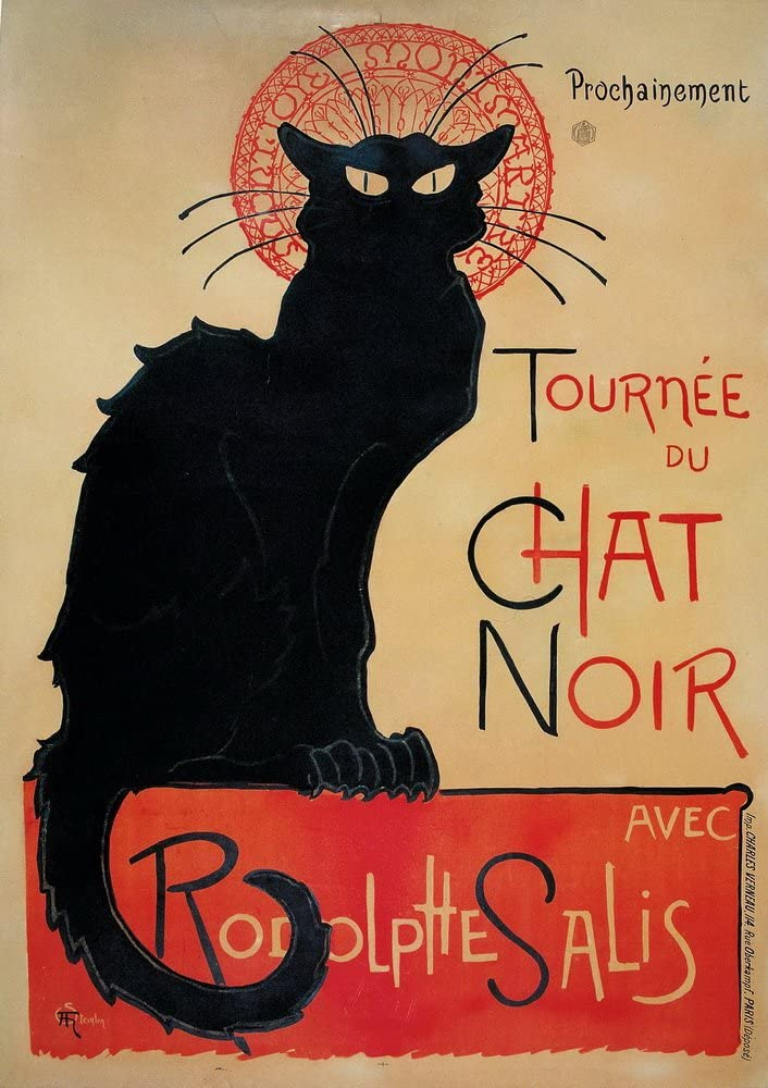 Theophile Alexandre Steinlen Summer Cat Giclee Canvas Print Paintings Poster