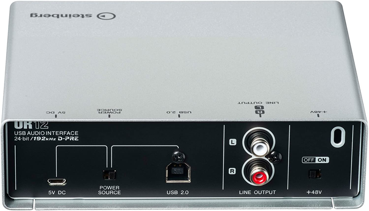 Steinberg UR12 USB Audio Interface with Headphones and XLR Cable