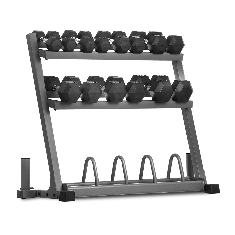 XMark - Soporte para pesas olímpicas con barra olímpica, para ...
