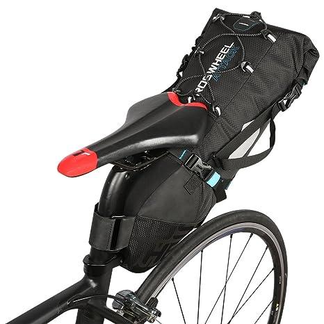 Lixada Impermeable Bicicleta Bolsa Bicicleta Bolsa para sillín de Bicicleta alforja Bicicleta MTB montaña Carretera Bicicleta Bolsa de Cola Asiento ...