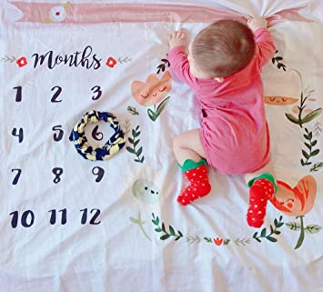 FP Newborn Baby Monthly Milestone Blanket Photography Backdrop Photo Prop Prefect For Boy