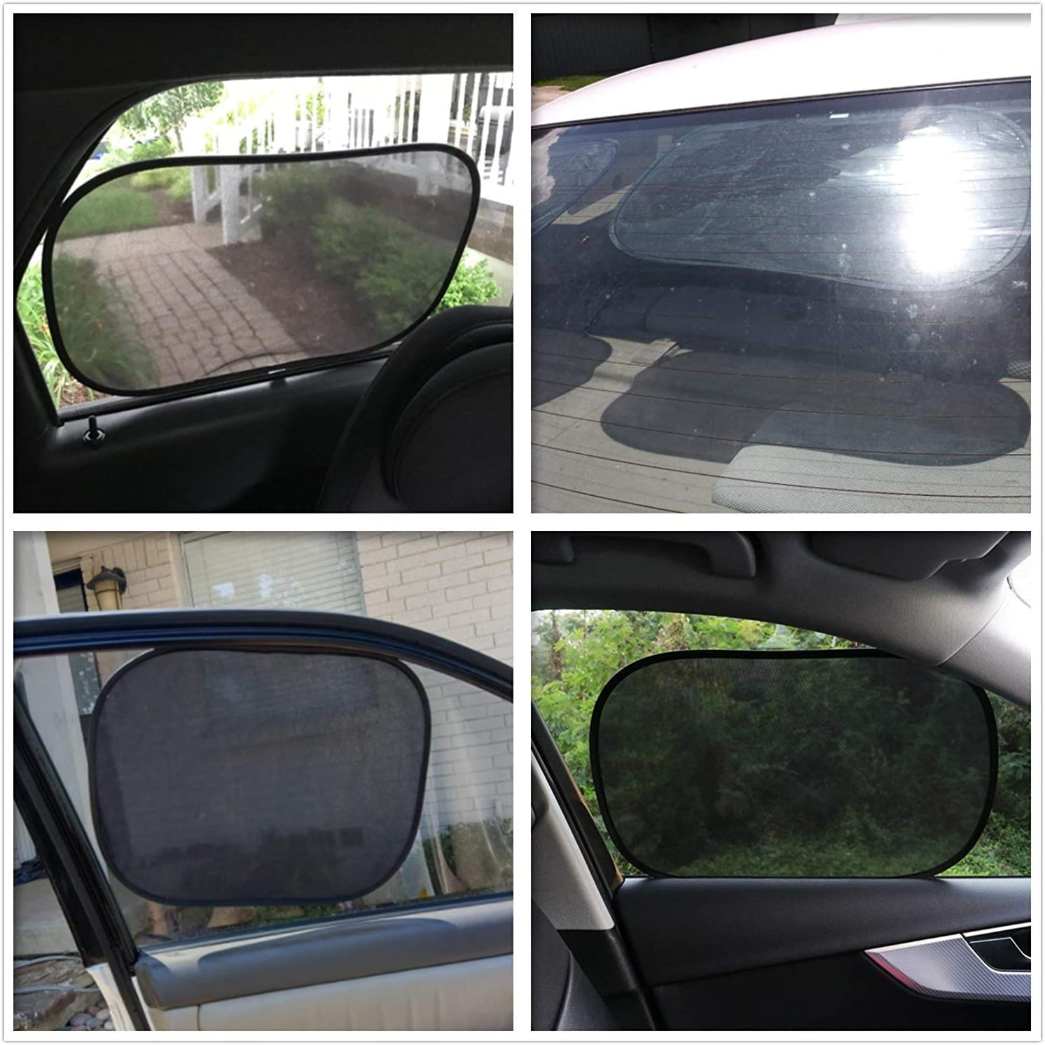 30cm and 2 Pack 44*36cm in a Handy Pouch Suitable For Most Vehicles-Black 2 Pack 50 Sun Shade for Car Window,Car Sun Shade for Baby /& KidsCar Sun Protector Block UV Rays Car Window Shade Blinds