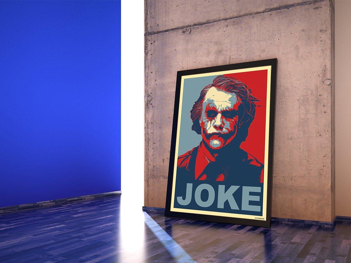 GREAT ART Red and Blue Poster Portrait Wandposter Two and a Half Men Rot Blau Wandbild Illustration Gewinnen Wand Deko zur TV-Serie Charlie Sheen Winning A1-84,1 x 59,4 cm