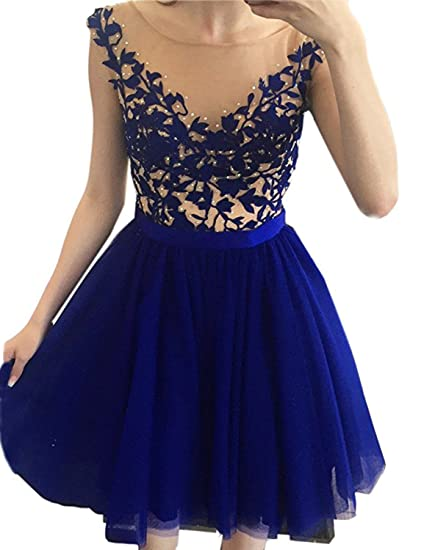 Stillluxury Backless Short Prom Gown Tulle Women Plus Size Homecoming Dresses Juniors Royal Size 30W